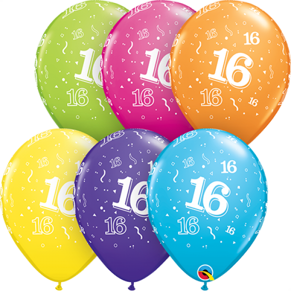 "11"" 16th Birthday Balloon"