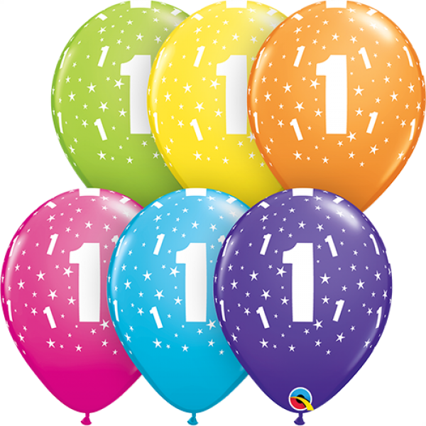 "11"" Number 1 Stars Balloon"