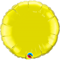 "18"" Citrine Yellow Foil Circle Balloon"