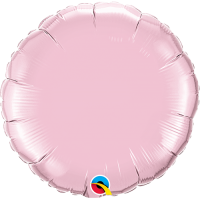 "18"" Pearl Pink Foil Circle Balloon"