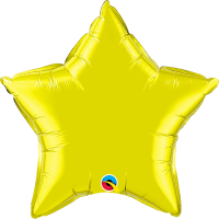 "20"" Citrine Yellow Foil Star Balloon"