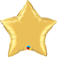 "20"" Metallic Gold Foil Star Balloon"