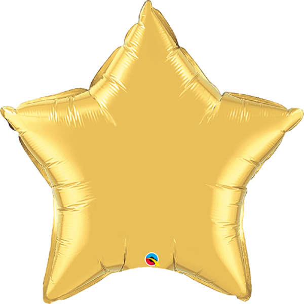 "36"" Metallic Gold Super Shape Star Balloon"