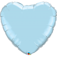 "36"" Pearl Light Blue Super Shape Heart Balloon"