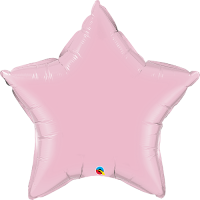 "36"" Pearl Pink Super Shape Star Balloon"