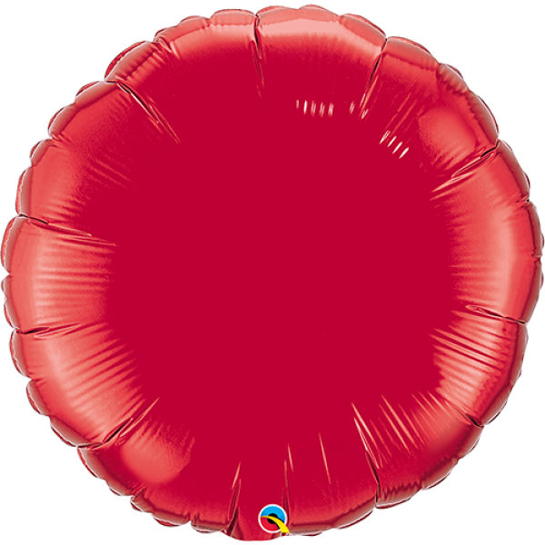 "36"" Ruby Red Super Shape Circle Balloon"