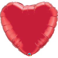 "36"" Ruby Red Super Shape Heart Balloon"