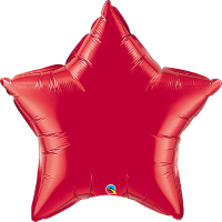 "36"" Ruby Red Super Shape Star Balloon"