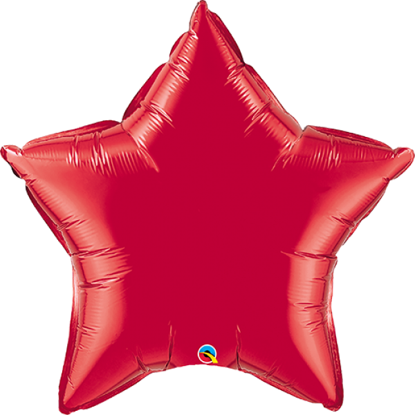 """36"""" Ruby Red Super Shape Star Balloon"""