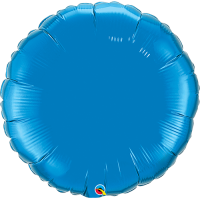 "36"" Sapphire Blue Super Shape Circle Balloon"