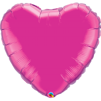 "36"" Super Shape Magenta Heart Balloon"