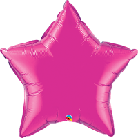 "36"" Super Shape Magenta Star Balloon"