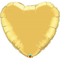 "36"" Super Shape Metallic Gold Heart Balloon"