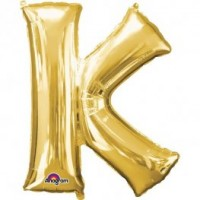 "40"" Gold Letter K Balloon & Weight"