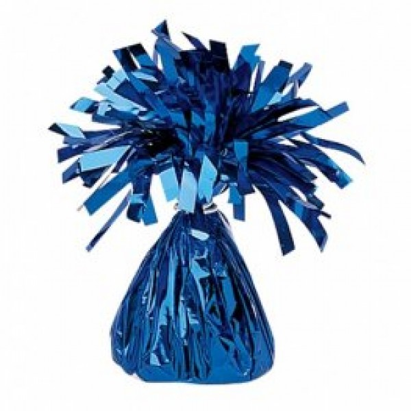 Blue Fringed Foil Balloon Weight 6oz