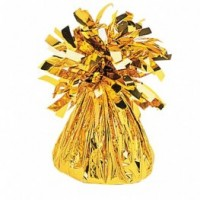 Gold Fringed Foil Balloon Weight 6oz