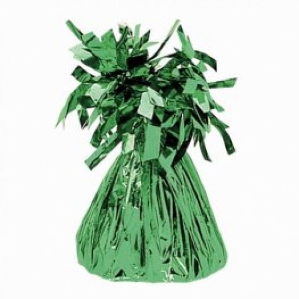 Green Fringed Foil Balloon Weight 6oz