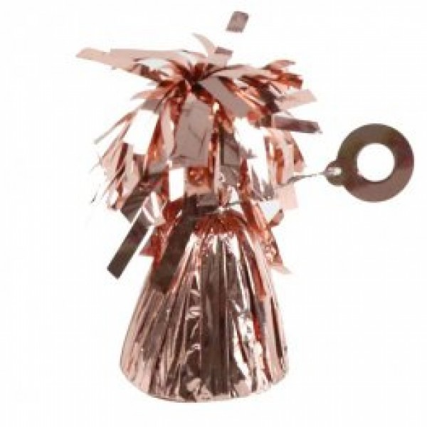 Rose Gold Fringed Foil Balloon Weight 6oz