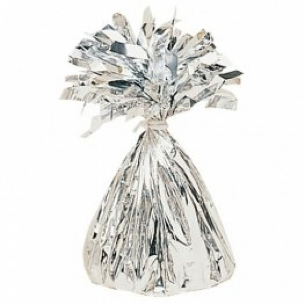 Silver Fringed Foil Balloon Weight 6oz